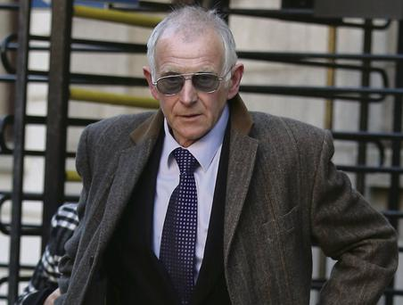 Denis Myers leaving the High Court. Collins