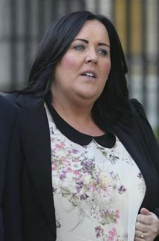 Deirdre Moore outside the High Court. Gareth Chaney/Collins