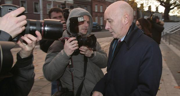Anthony Lyons pictured leaving court. Niall Carson/pa
