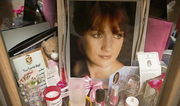 A shrine for Michelle at her home in Co Kildare