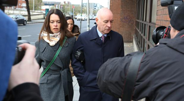 Anthony Lyons pictured arriving at The Four Courts today.