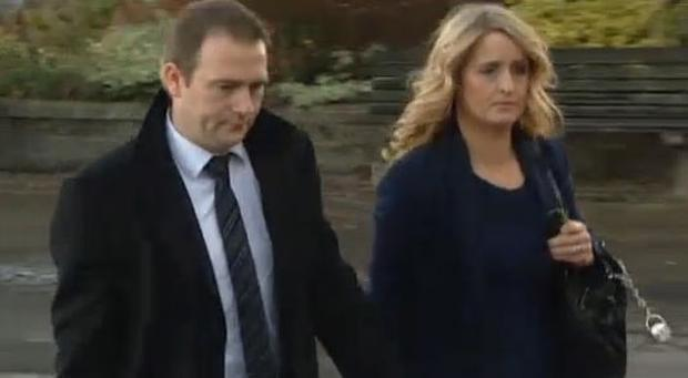 Mark and Roisin Molloy - picture courtesy of TV3