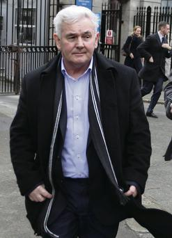 John Gilligan leaves the High Court in Dublin after the judgment.