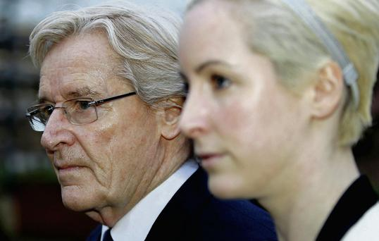 William Roache with his daughter Verity.