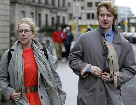 Lucas Neville outside court with his mother Michelle Neville yesterday. Photo: Courtpix