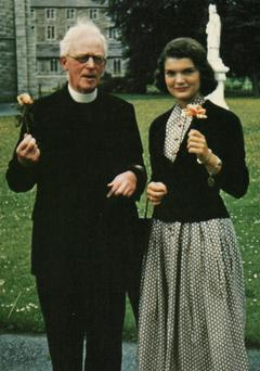 Fr Joseph Leonard with Jackie Kennedy