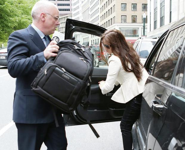 David Drumm and his wife Lorraine outside the US Bankruptcy Courthouse in Boston