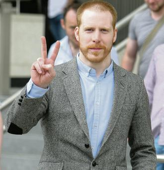 'Hardy Bucks' actor Martin Maloney leaving Dublin District Court yesterday. Courtpix
