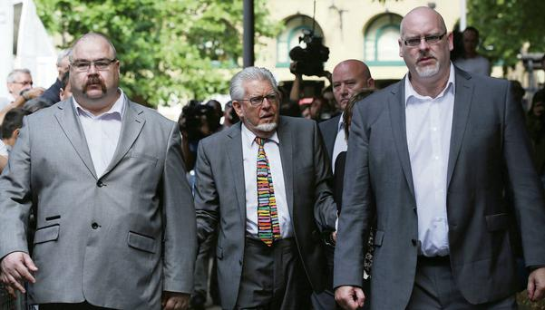 Rolf Harris arrives for sentencing at Southwark Crown Court in London yesterday.Photo: Reuters