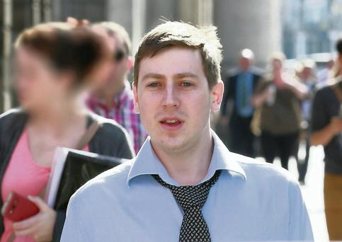 Eoin McKeogh outside the High Court