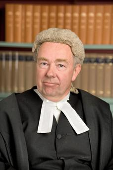 High Court President Nicholas Kearns, who is one of three judges hearing the case
