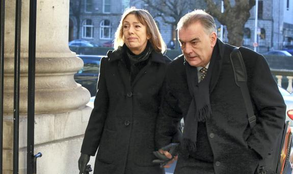 Jules Thomas and Ian Bailey arriving at the Four Courts in Dublin. Photo: Courts Collins