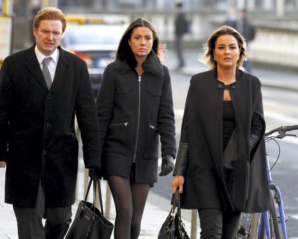 Blake, Alexandra and Blaise O'Donnell, the son and daughters of Brian O'Donnell and wife Pat, arriving at court. Picture: Courtpix