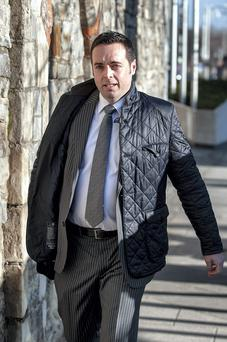 Detective Sergeant Kevin Duggan leaving Central Criminal Court after he gave evidence in the trial of Graham Dwyer