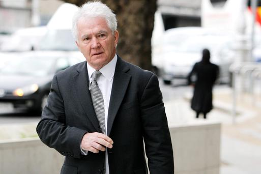 Former Anglo Irish Bank chairman Sean FitzPatrick, of Whitshed Road, Greystones, Co Wicklow, at court yesterday