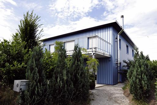 This picture shows the building of the assisted suicide clinic, Dignitas in Pfaeffikon near Zurich