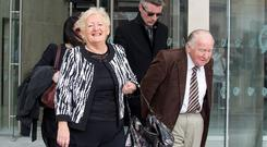 Rose and Jim Callaly, parents of Rachel O'Reilly leave court yesterday after the appeal by Joe O'Reilly against his conviction for Rachel's murder failed