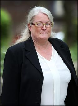 Siobhan O'Higgins leaving the Employment Appeal Tribunal on Adelaide Road where she was taking a case against Liberty Insurance
