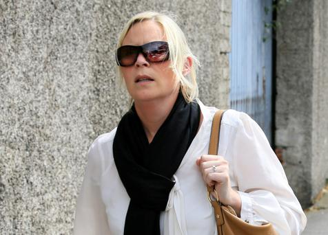 Garda Hilary Lynch leaving court after the hearing