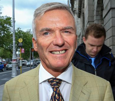 Ivor Callely leaving the High Court
