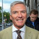 Ivor Callely leaving the High Court yesterday