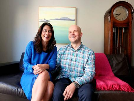Mark Pollock with Simone George at their home in Dublin