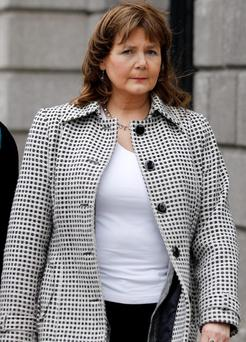 Deirdre Taaffe leaving court yesterday. Photo: Courtpix