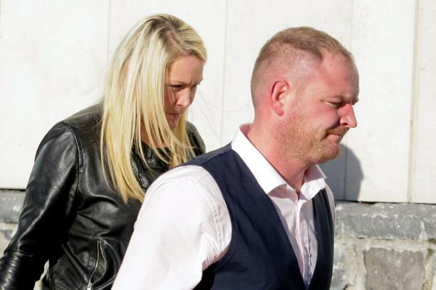 David Ward (30) and Lynsey Ivory (27), of The Beeches, Clonshaugh, Priorswood, Dublin, leaving court yesterday