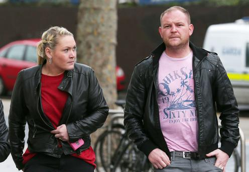 Lynsey Ivory and David Ward, who staged an accident
