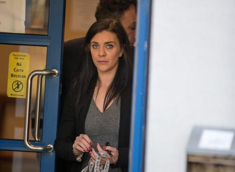 Michelle Massey leaving Dún Laoighaire District Court last month Photo: Mark Condren