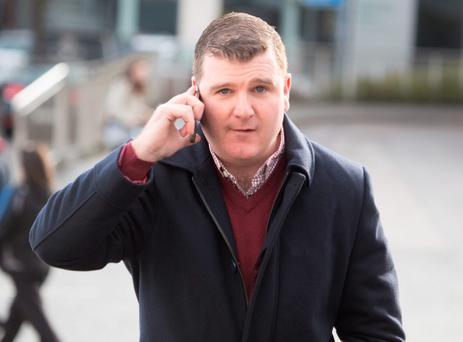 Cllr O'Donnell outside court. Photo: NorthWestNewsPix