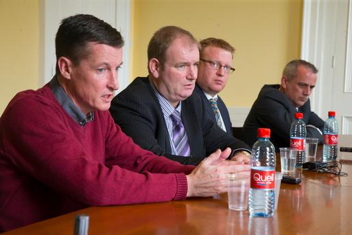 From left, victims Colin Power, Jason Clancy, Kevin Keating and Barry Murphy. Photo: Patrick Browne