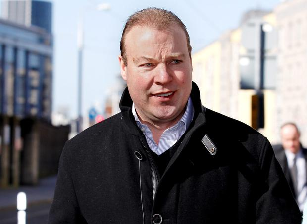 Businessman Jim Mansfield Jnr is charged with possession of a pump-action shotgun without a firearm certificate