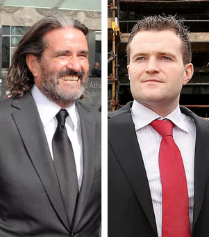 Johnny Ronan (l) and Greg Kavanagh (r) have been locked in a legal battle