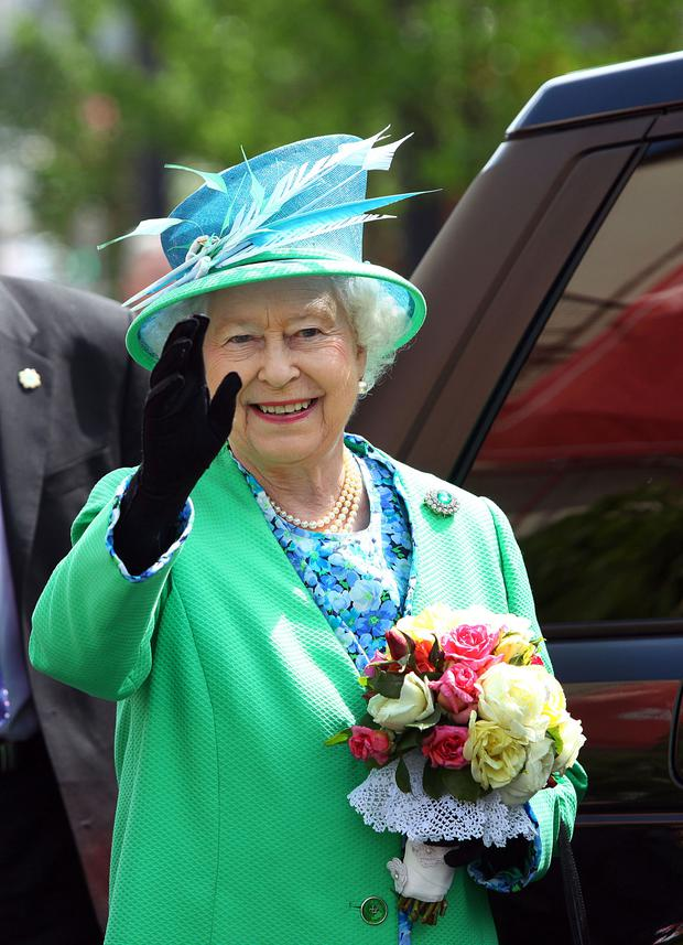 Queen Elizabeth in Cork during her state visit here in 2011