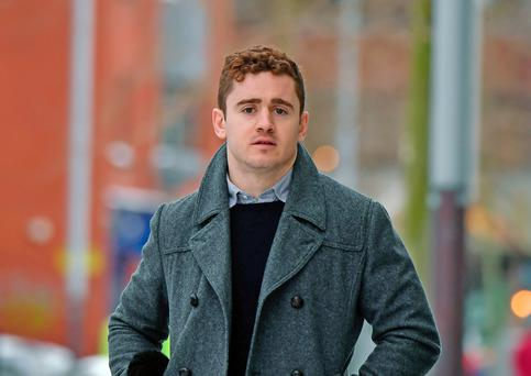 Paddy Jackson arrives at Belfast Laganside courts. Picture: Getty