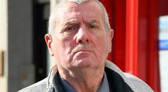 Tested: Bus Driver Michael Connelly leaving Naas courthouse yesterday. Photo: Frank McGrath