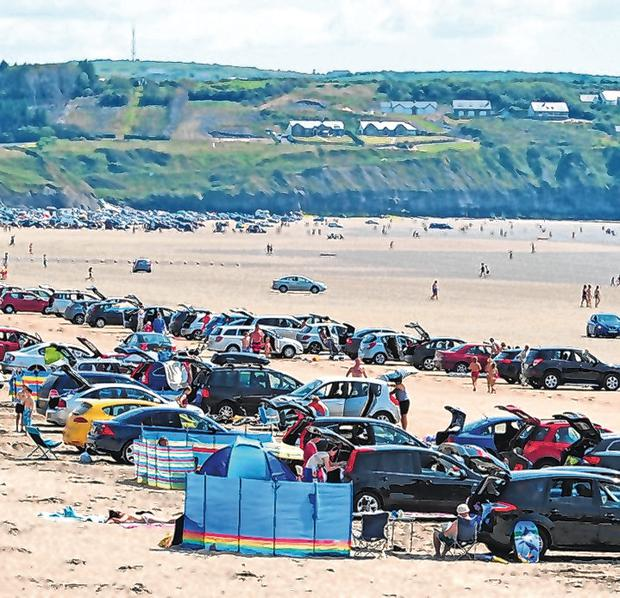 A general view of Rossnowlagh Beach in Donegal