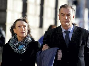 Ian Bailey and Jules Thomas arrive at the Four Courts. Photo: Courtpix.