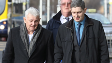 John Gilligan and son Darren arrive for the Supreme Court action Photo: Collins Courts