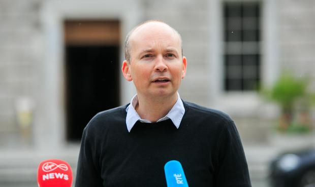 TD Paul Murphy identified the retired judge in the Dáil today. Photo: Gareth Chaney/Collins