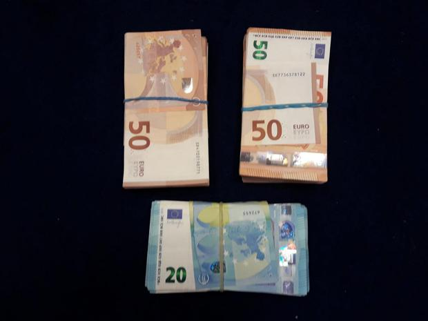 Cash seized in the raids. Picture: Gardaí