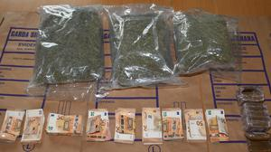 Gardaí seized €66,000 of suspected cannabis and almost €15k in cash