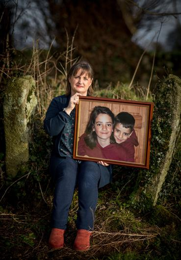 Kathleen Chada with a photograph of her sons Eoghan and Ruairí. Photo: Dylan Vaughan.