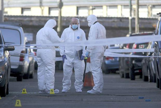 A technical examination is to be carried out by the Garda Technical Bureau on Eugene Street Dublin after the shooting incident. Pic Gareth Chaney / Collins Photos Dublin