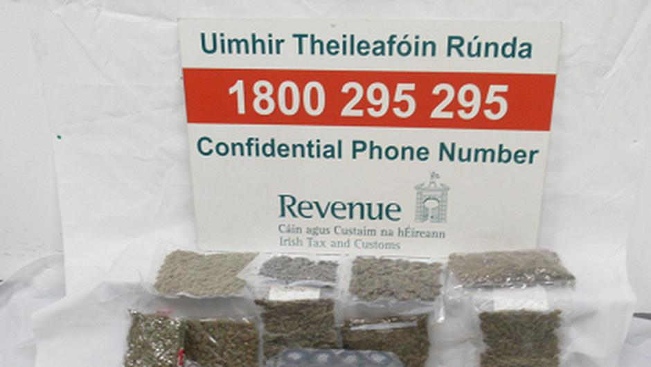 Weeded out: More than €100,000 worth of drugs was seized