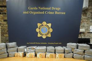 A major garda operation over the weekend led to                   €1 million worth of cash being seized.