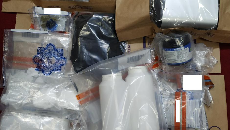The drugs, cash and paraphernalia were seized during multiple searches in the Dundalk area targeting the sale of drugs.