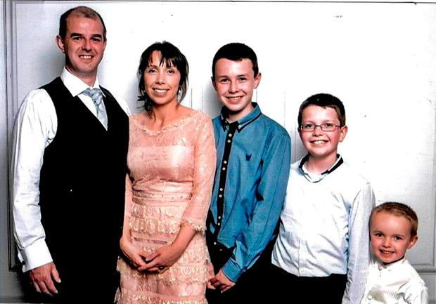 Alan Hawe, left, who commit suicide after murdering his wife Clodagh and children Liam (13), Niall (9) and Ryan (6). Photo: Hawes/Coll families/PA Wire