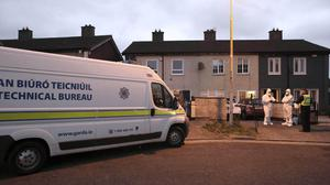 Gardaí are are investigating the discovery of a mans body found at a property in Tallaght this evening. (Picture: Stephen Collins / Collins Dublin)